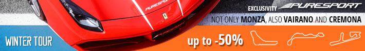 Puresport带您在蒙扎赛道驾驶超级跑车和单座赛车