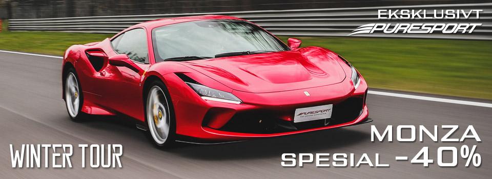Kjør Gt biler og ensetere i Monza med Puresport