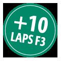 + 10 laps F3