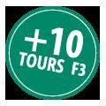 + 10 tours F3