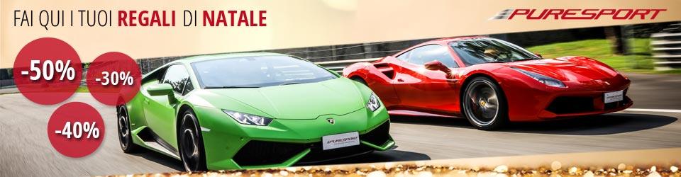 Regali originali Puresport Per natale guida in pista una Ferrari, Lamborghini o una vera monoposto