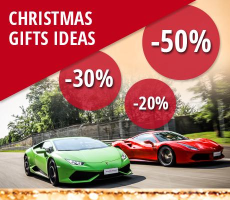 Presentes originais Puresport para o Natal: pilotar em um autódromo uma Ferrari, uma Lamborghini ou um autêntico carro Fórmula.